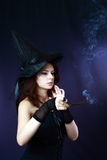 Witch on a dark background Stock Photo