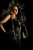 Witch in darkness Royalty Free Stock Photography