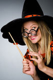 Witch doing her Royalty Free Stock Image