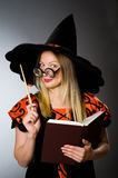 Witch doing her Royalty Free Stock Photography