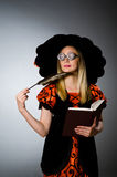 Witch doing her Royalty Free Stock Photo