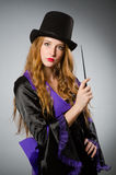 Witch doing her dirty Royalty Free Stock Photos