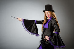Witch doing Royalty Free Stock Image