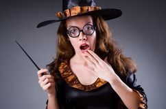 The witch doing her dirty tricks Royalty Free Stock Photos