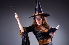 The witch doing her dirty tricks Royalty Free Stock Photography