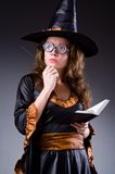 The witch doing her dirty tricks Royalty Free Stock Image