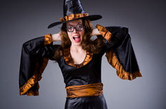 The witch doing her dirty tricks Stock Photography