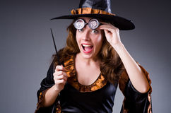 Witch doing her dirty tricks Royalty Free Stock Images