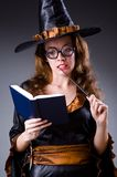 Witch doing her dirty tricks Stock Photos