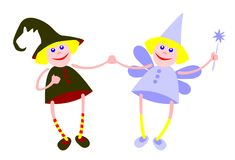 Witch and fairy Royalty Free Stock Photos