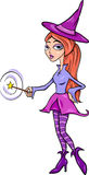 Witch or fairy fantasy cartoon illustration Stock Photography