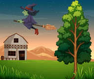 A witch at the farm Stock Photography