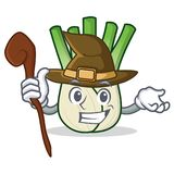 Witch fennel mascot cartoon style. Vector illustration Royalty Free Stock Photo
