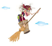 The witch flies Royalty Free Stock Images