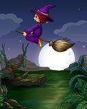 Witch flying Royalty Free Stock Photo