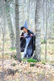 Witch in the forest Stock Photo