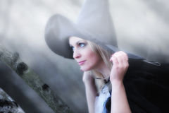Witch in the forest Royalty Free Stock Images