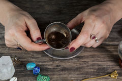 Witch - fortune teller Stock Photo