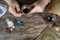 Witch - fortune teller Stock Photography