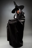 Witch full length shot Royalty Free Stock Photography