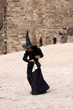 Witch at Genoa helmet fest Stock Image