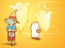 Witch and Ghosts Royalty Free Stock Photo