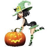 Witch girl isolated Royalty Free Stock Image