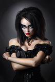 Witch. Girl in style Halloween Stock Photography