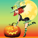 Witch girl Royalty Free Stock Photo