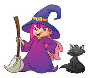 Witch Girl. Wolf symbol illustrator design .eps 10 Royalty Free Stock Photography