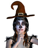 Witch with gothic make up Royalty Free Stock Image