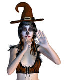 Witch with gothic make up Stock Image