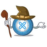 Witch Gxshares coin mascot cartoon. Vector illustration Royalty Free Stock Photo