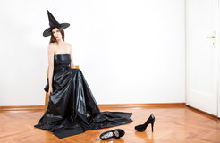 Witch in hall Royalty Free Stock Images