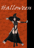 Witch Halloween Background Stock Image