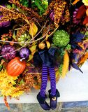 Witch Halloween decoration Stock Images