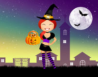 Witch of Halloween Stock Photography