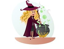 Witch for halloween party  Royalty Free Stock Photo