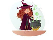 Witch for halloween party  Stock Photos