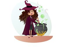 Witch for halloween party vector Royalty Free Stock Photos