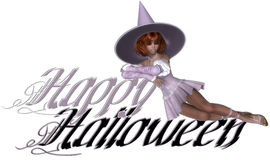 Witch Happy Halloween Stock Photo