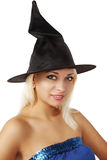Witch in hat Royalty Free Stock Photos