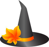 Witch hat. Vector illustration of a witch hat for Halloween, isolated Royalty Free Stock Images
