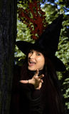 Witch in the hat Royalty Free Stock Photo
