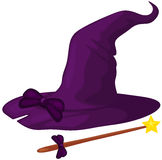 Witch hat with cane Stock Image