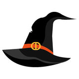 Witch hat cartoon isolated on white Stock Photography