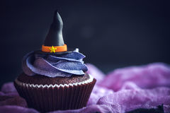 Witch hat cupcake Stock Photography