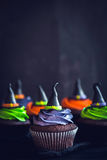 Witch hat cupcakes Royalty Free Stock Photo