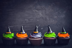 Witch hat cupcakes Royalty Free Stock Photography