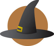 Witch hat halloween costume Stock Image